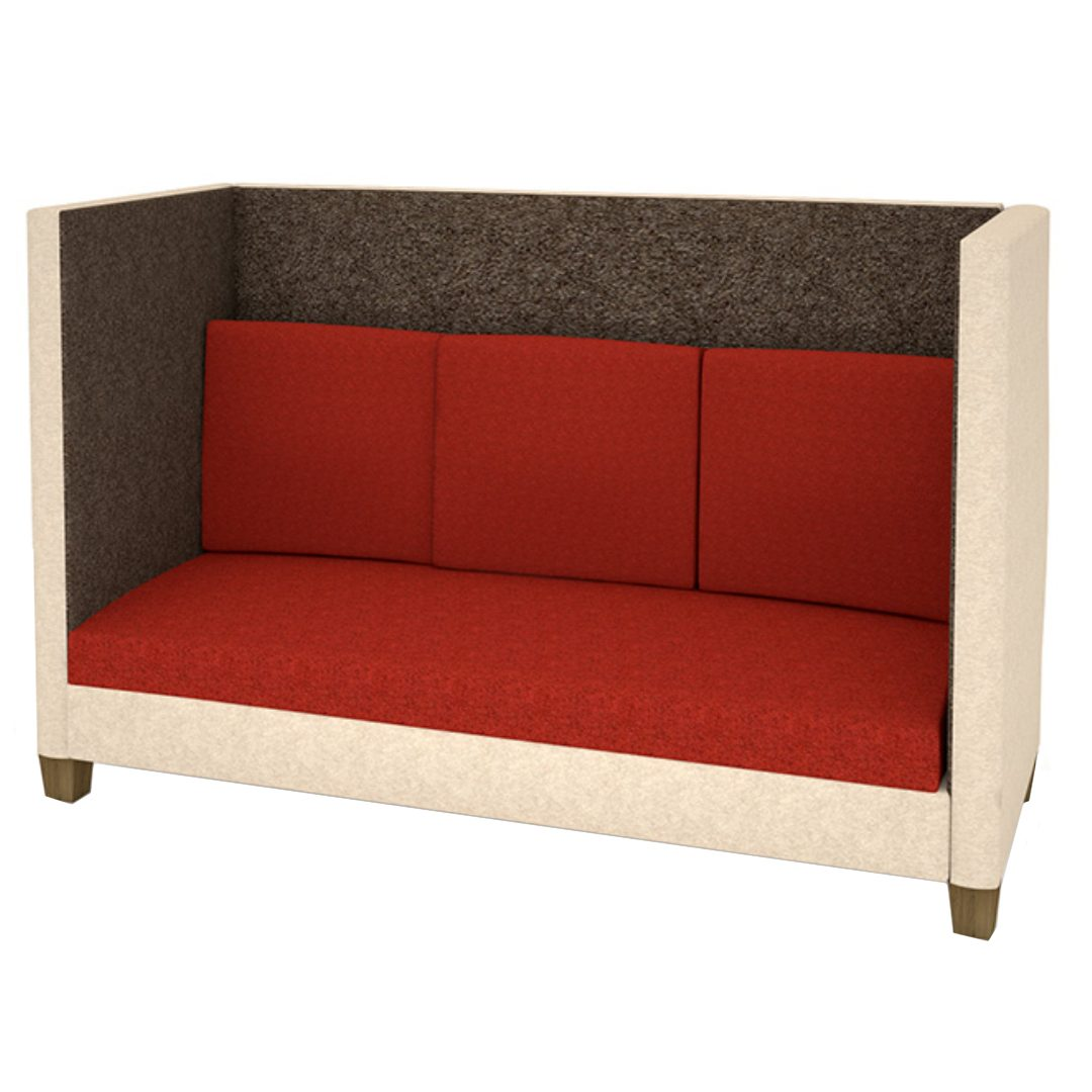 Ecousit 1 sofa set with divider visitors chairs