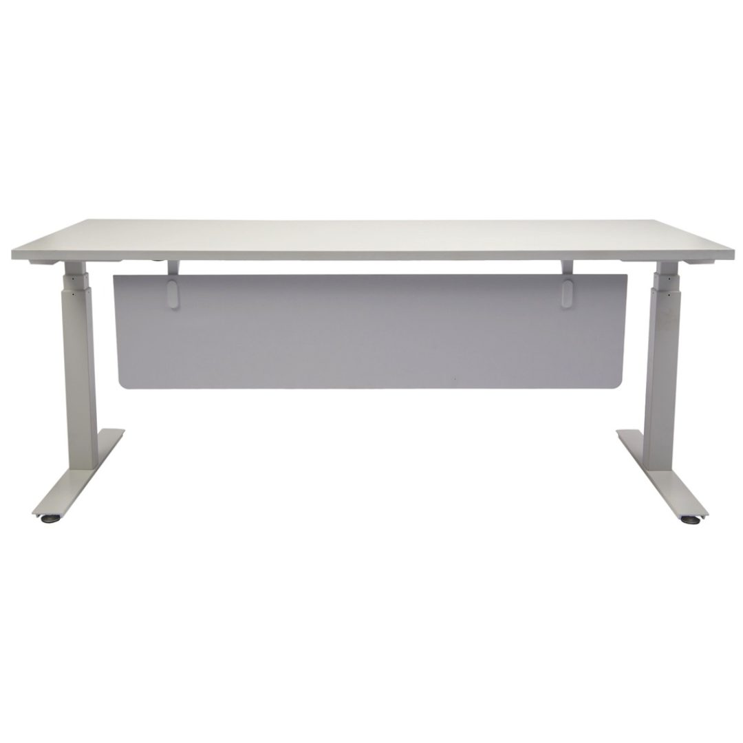 Uni Modesty long woring table office white corner desk darwin nt